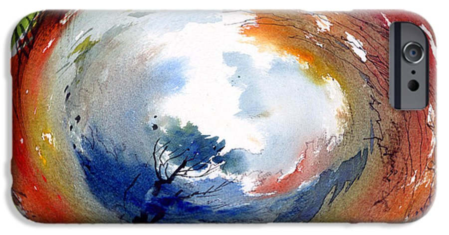 Landscape Water Color Watercolor Digital Mixed Media IPhone 6 Case featuring the painting Universe by Anil Nene