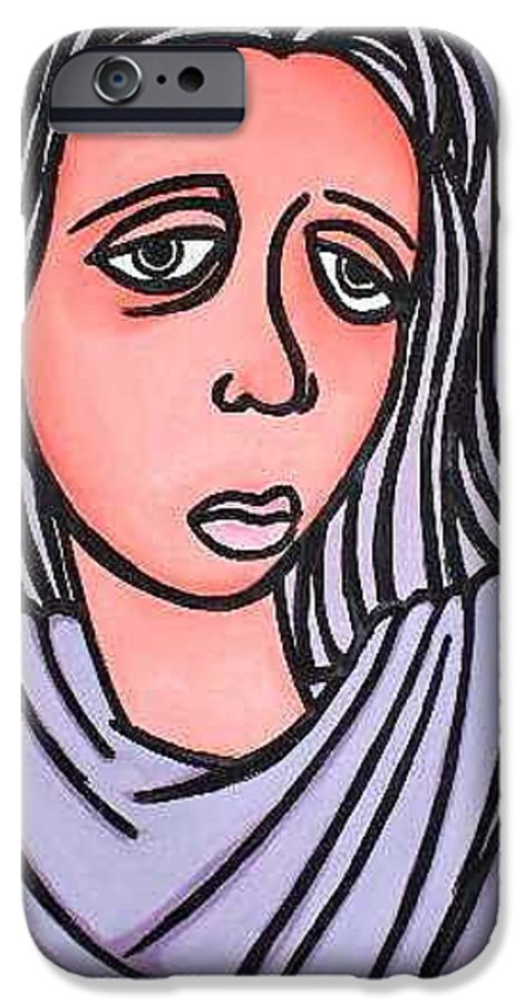 Portrait IPhone 6 Case featuring the painting Unknown by Thomas Valentine