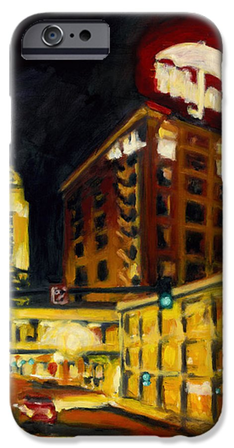 Rob Reeves IPhone 6 Case featuring the painting Untitled In Red And Gold by Robert Reeves