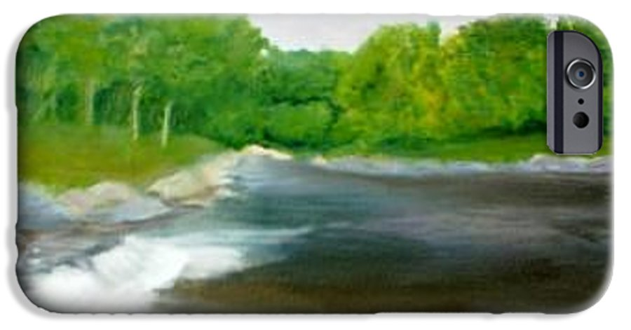 River IPhone 6 Case featuring the painting Untitled Plein Aire by Sheila Mashaw
