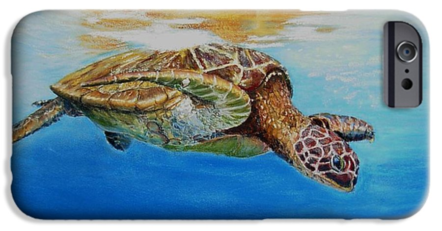 Wildlife IPhone 6 Case featuring the painting Up For Some Rays by Ceci Watson