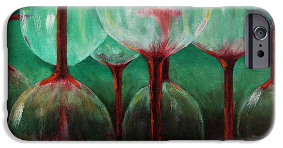 Oil IPhone 6 Case featuring the painting Upsidedown by Linda Hiller
