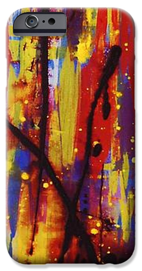 Abstract IPhone 6 Case featuring the painting Urban Carnival by Lauren Luna