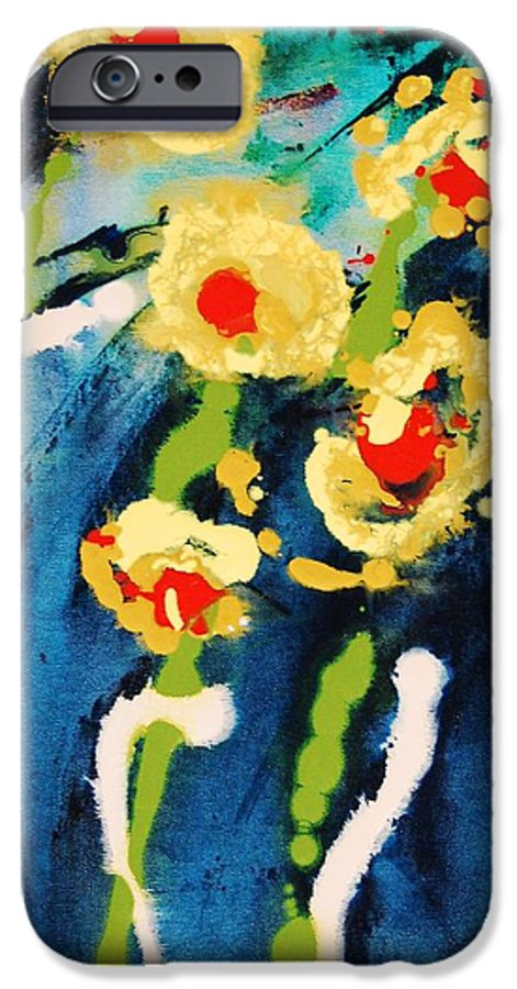 Abstract IPhone 6 Case featuring the painting Urban Garden by Lauren Luna