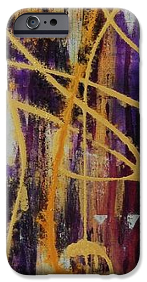 Abstract IPhone 6 Case featuring the painting Urban Royality by Lauren Luna