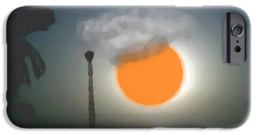 Urban.sea.sunset.sky.sun.water Sun Reflection.coast. IPhone 6 Case featuring the digital art Urban Sea Sunset by Dr Loifer Vladimir