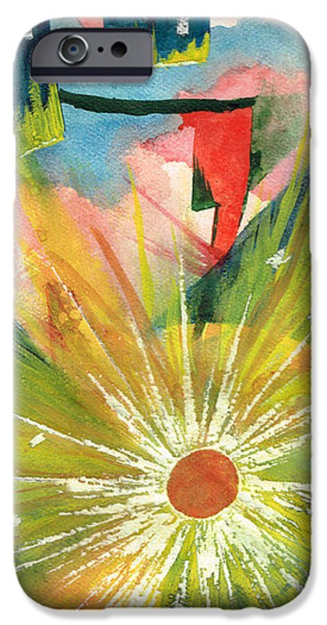 Downtown IPhone 6 Case featuring the painting Urban Sunburst by Andrew Gillette