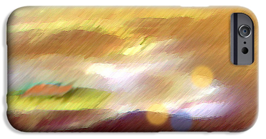 Landscape IPhone 6 Case featuring the painting Valleylights by Anil Nene