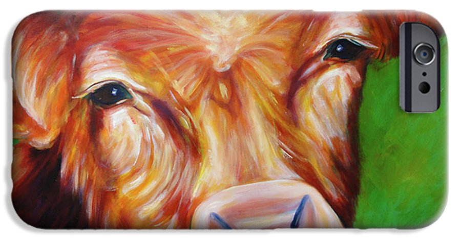 Bull IPhone 6 Case featuring the painting Van by Shannon Grissom