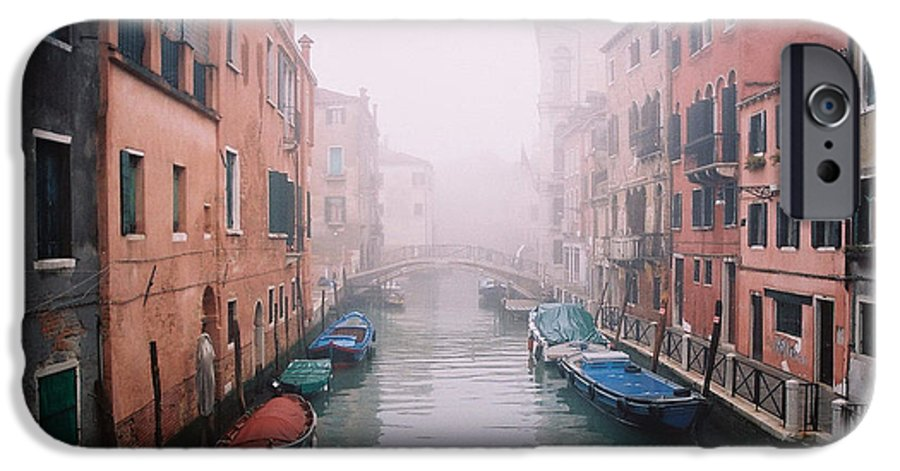 Venice IPhone 6 Case featuring the photograph Venice Canal I by Kathy Schumann