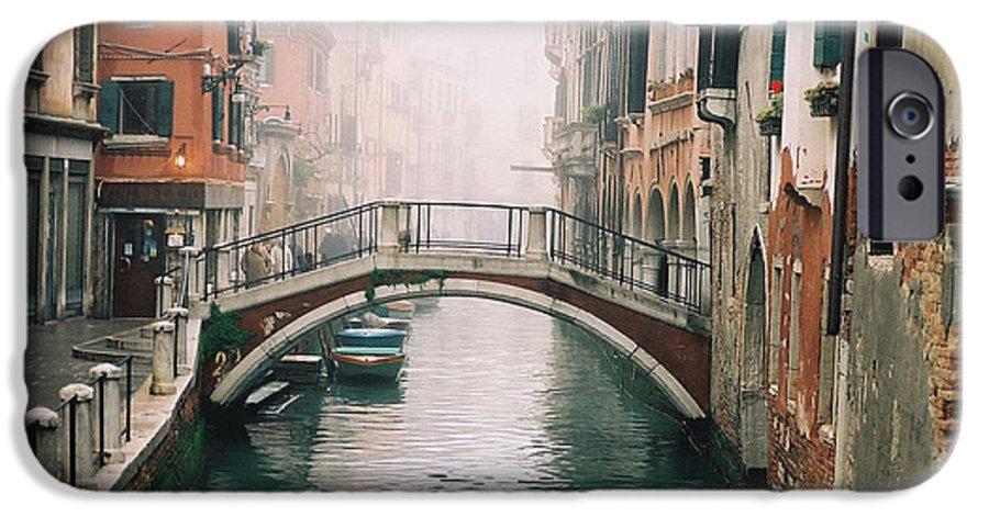 Venice IPhone 6 Case featuring the photograph Venice Canal II by Kathy Schumann