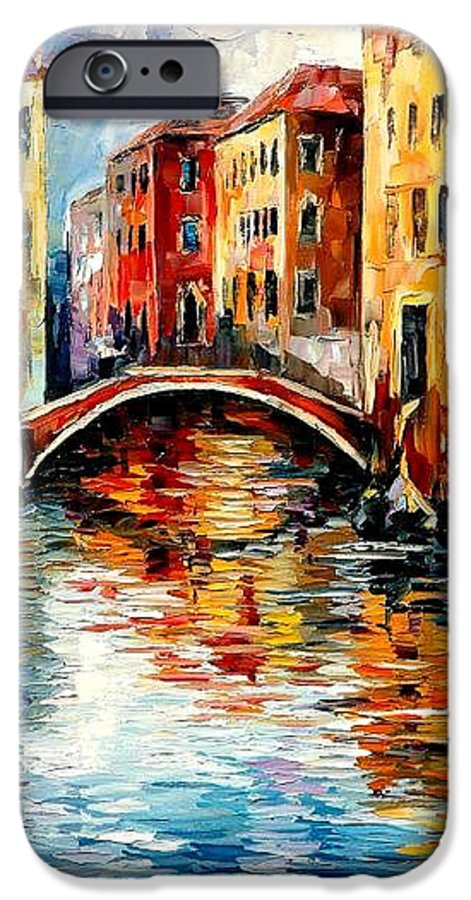 Landscape IPhone 6 Case featuring the painting Venice by Leonid Afremov