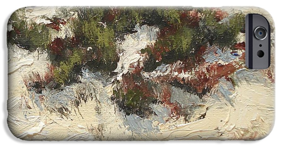 Water IPhone 6 Case featuring the painting Ventura Dunes I by Barbara Andolsek