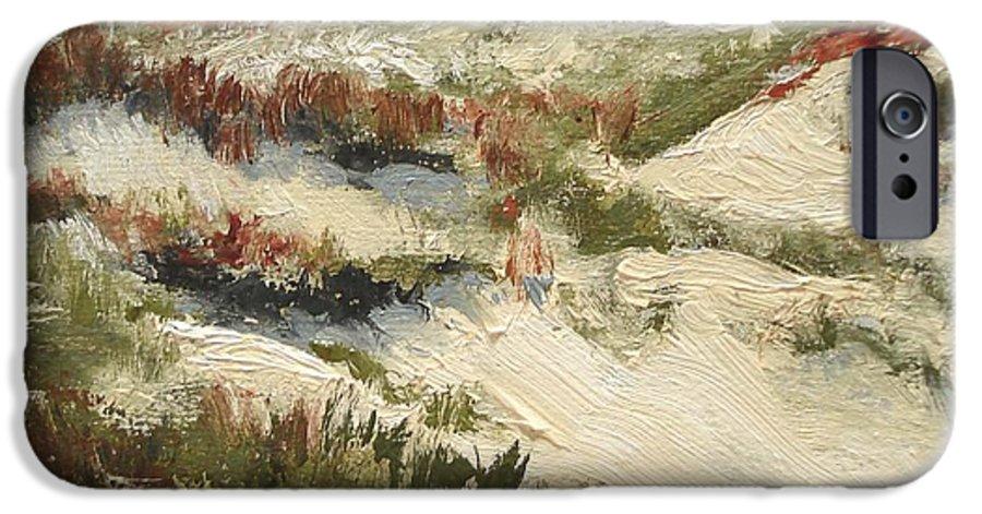 Water IPhone 6 Case featuring the painting Ventura Dunes II by Barbara Andolsek