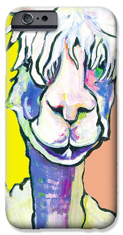 Mountain Animal IPhone 6 Case featuring the painting Veronica by Pat Saunders-White