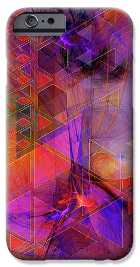 Vibrant Echoes IPhone 6 Case featuring the digital art Vibrant Echoes by John Beck