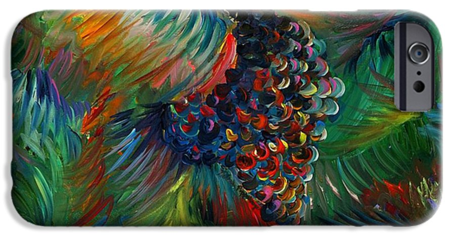 Grapes IPhone 6 Case featuring the painting Vibrant Grapes by Nadine Rippelmeyer