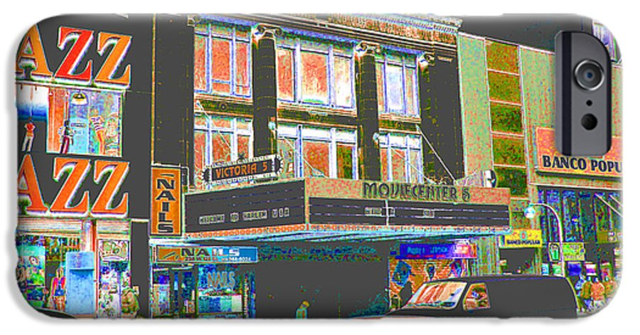 Harlem IPhone 6 Case featuring the photograph Victoria Theater 125th St Nyc by Steven Huszar