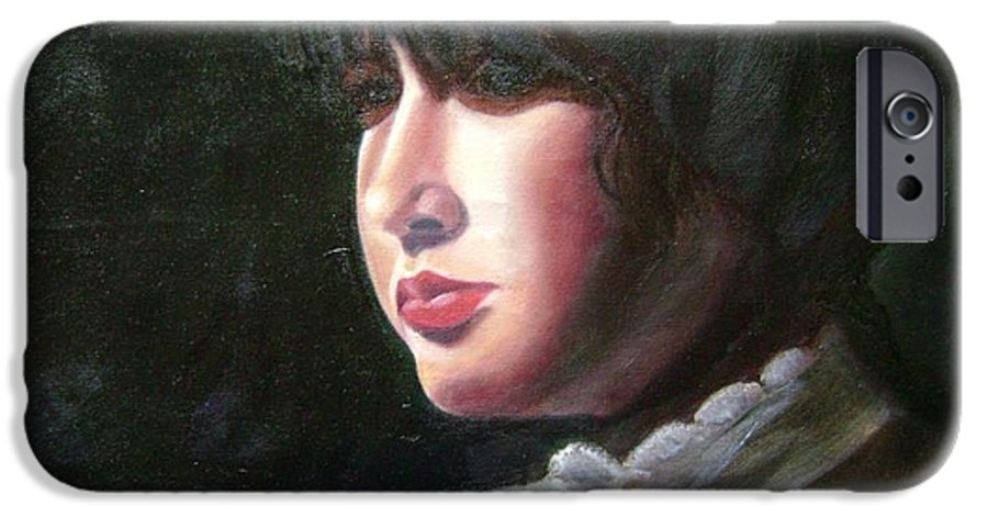 Girl In White Blouse IPhone 6 Case featuring the painting Victorian Blouse by Toni Berry