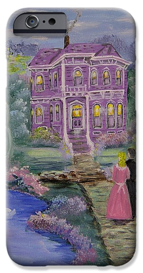 Victorian IPhone 6 Case featuring the painting Victorian Romance 1 by Quwatha Valentine