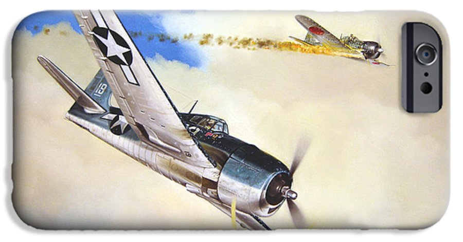Military IPhone 6 Case featuring the painting Victory For Vraciu by Marc Stewart