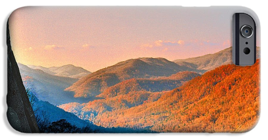 Landscape IPhone 6 Case featuring the photograph View From Chimney Rock-north Carolina by Steve Karol