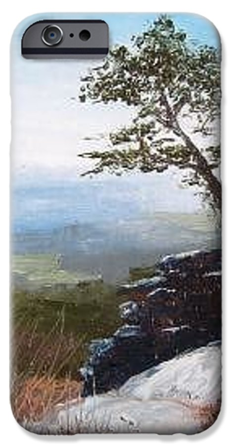 Landscape / Nature / Blue Ridge Mountains IPhone 6 Case featuring the painting View From Pilot Mountain by Tami Booher