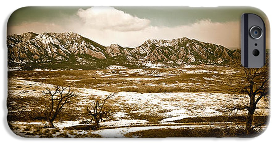Landscape IPhone 6 Case featuring the photograph Flatironsview From Superior by Marilyn Hunt