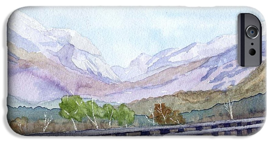 Franconia Notch IPhone 6 Case featuring the painting View Of Franconia Notch by Sharon E Allen