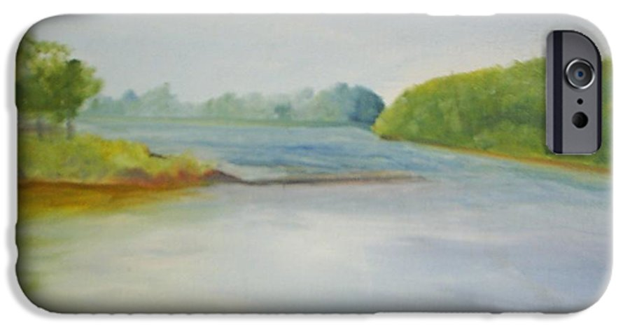 Delaware River IPhone 6 Case featuring the painting View Of The Delaware by Sheila Mashaw