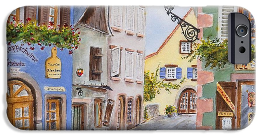 Village IPhone 6 Case featuring the painting Village In Alsace by Mary Ellen Mueller Legault