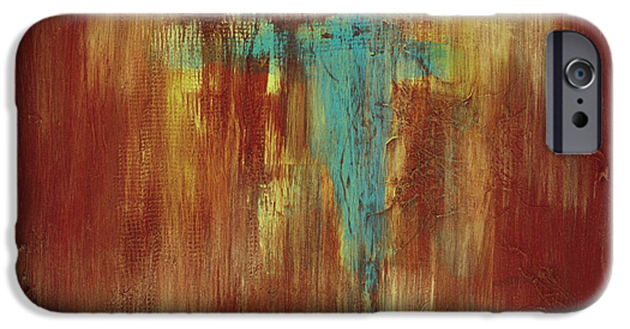 Abstract IPhone 6 Case featuring the painting Vision Quest by Tara Moorman