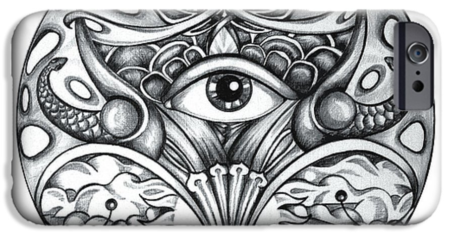 Eye IPhone 6 Case featuring the drawing Vision by Shadia Derbyshire