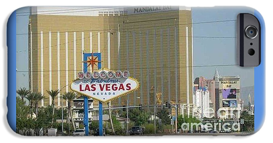 Vegas IPhone 6 Case featuring the photograph Viva Las Vegas by Barb Montanye Meseroll