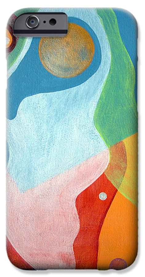 Abstract IPhone 6 Case featuring the painting Voile by Muriel Dolemieux