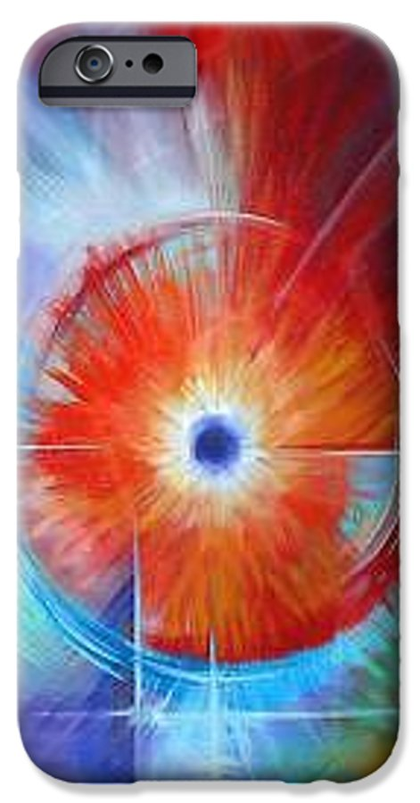 Clouds IPhone 6 Case featuring the painting Vortex by James Christopher Hill