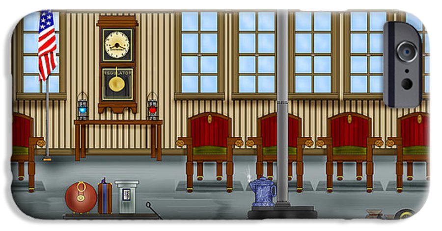 Realism IPhone 6 Case featuring the painting Waiting Room At The Depot by Anne Norskog