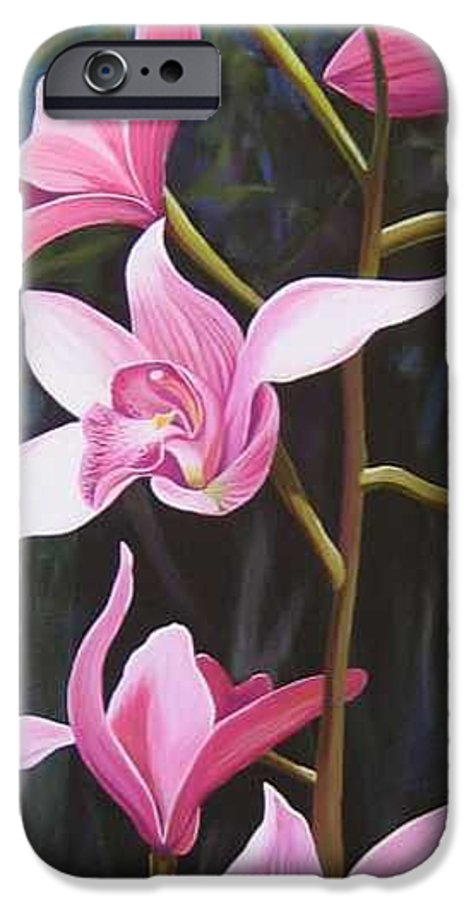 Orchids In Italy IPhone 6 Case featuring the painting Waking Up In The Sun by Hunter Jay