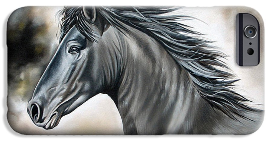 Horse IPhone 6 Case featuring the painting Wanapun by Ilse Kleyn