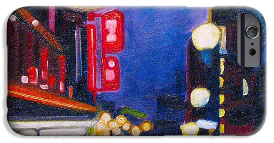 Night Scene IPhone 6 Case featuring the painting Wandering At Dusk by Patricia Arroyo