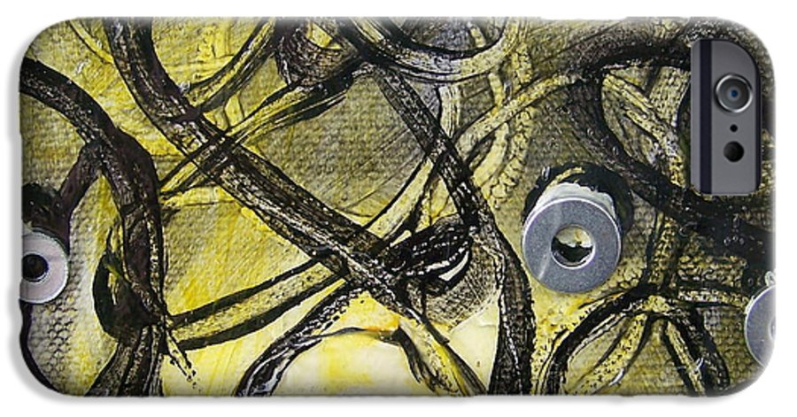 Mixed Media IPhone 6 Case featuring the painting Washer Cells by Angela Dickerson