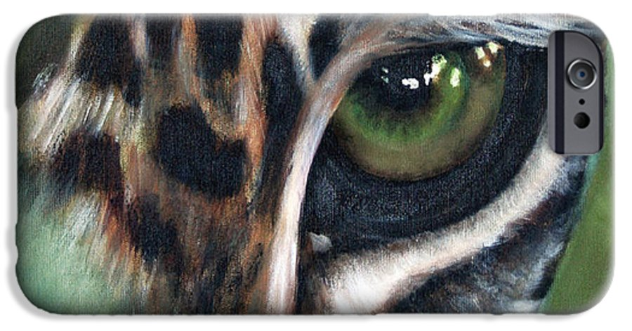Animals IPhone 6 Case featuring the painting Watching You Watching Me by Fiona Jack