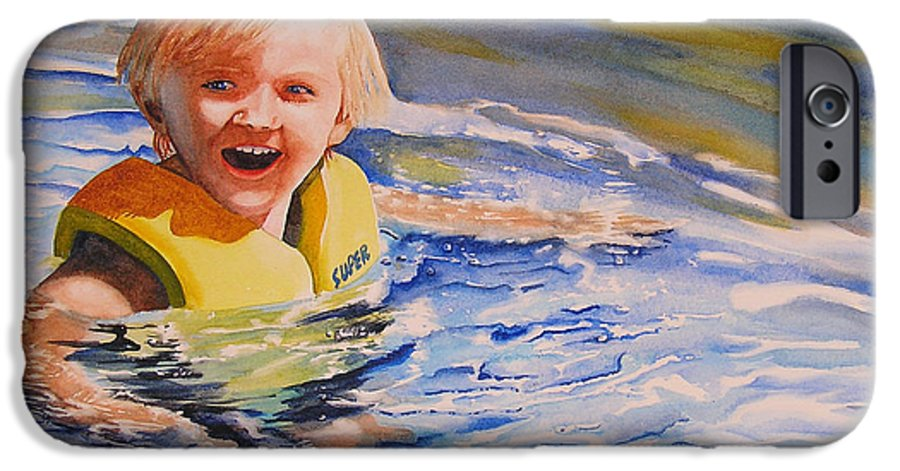 Swimming IPhone 6 Case featuring the painting Water Baby by Karen Stark