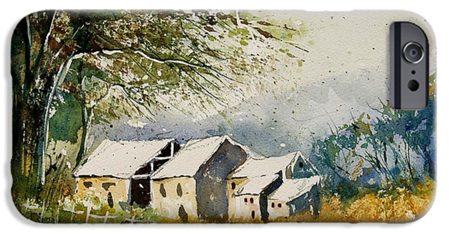 Landscape IPhone 6 Case featuring the painting Watercolor 010708 by Pol Ledent