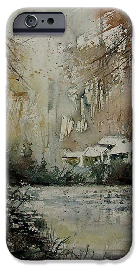 Landscape IPhone 6 Case featuring the painting Watercolor 070608 by Pol Ledent