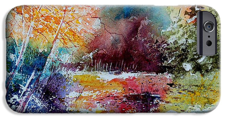 Pond IPhone 6 Case featuring the painting Watercolor 140908 by Pol Ledent