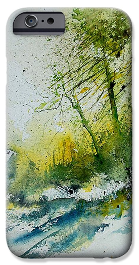 River IPhone 6 Case featuring the painting Watercolor 181207 by Pol Ledent