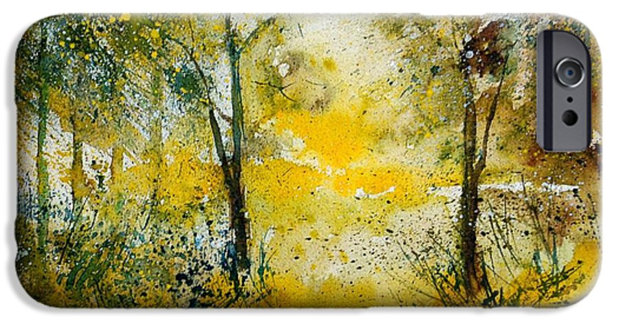 River IPhone 6 Case featuring the painting Watercolor 210108 by Pol Ledent