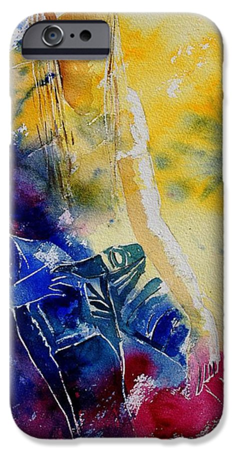 Girl Nude IPhone 6 Case featuring the painting Watercolor 21546 by Pol Ledent