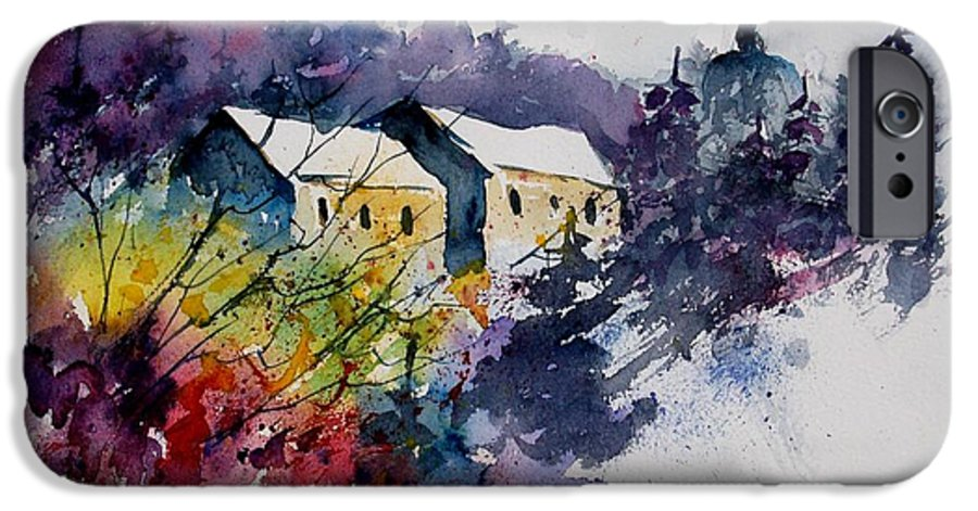 River IPhone 6 Case featuring the painting Watercolor 231207 by Pol Ledent